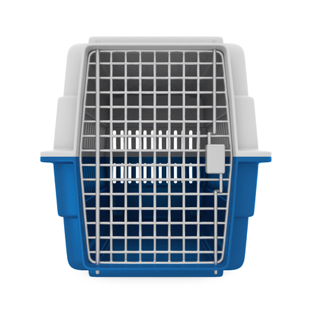 Pet Carrier Isolated Stock Photo