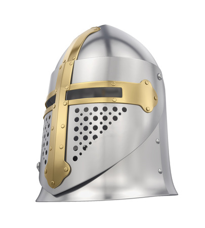Knight Helmet Isolated Stock Photo
