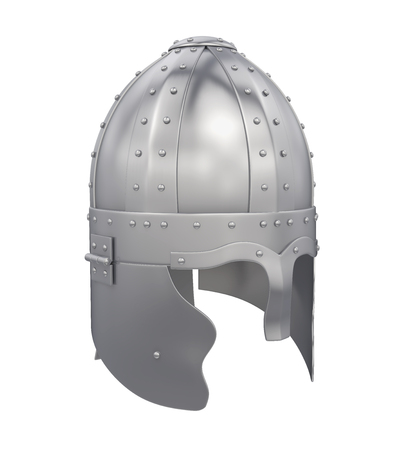 soldiers: Knight Helmet Isolated Stock Photo