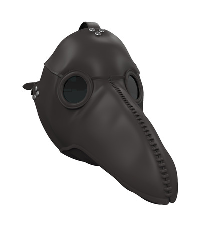 Plague Doctor Mask Isolated Stock Photo