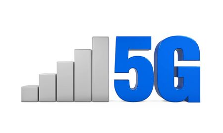 high speed internet: 5G Network Sign Isolated