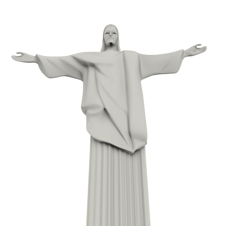cristo: Christ the Redeemer Statue Isolated