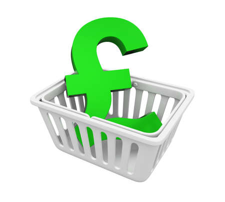 Shopping Basket with Pound Sign