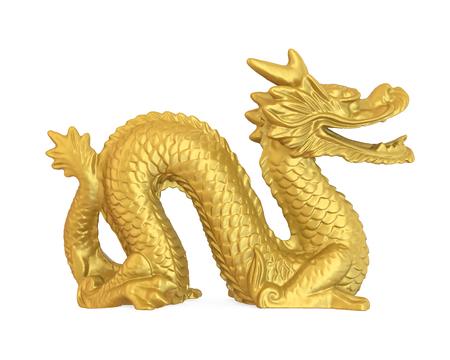 Estatua china del dragón aislada Foto de archivo