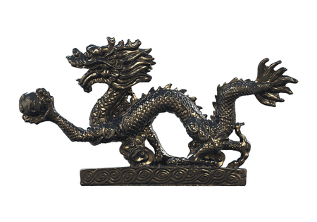 Chinese Dragon Statue Isolated Stock Photo