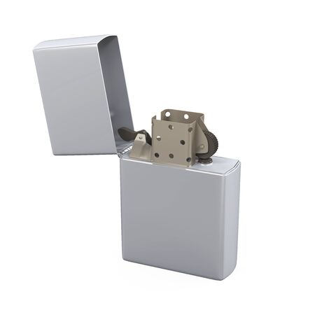 gas lighter: Metal Lighter Isolated