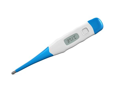 celcius: Digital Thermometer Isolated Stock Photo