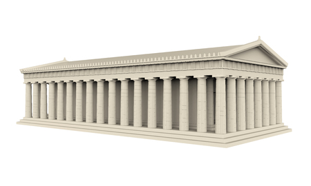 european culture: Greek Temple Isolated
