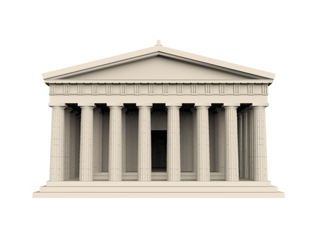 Greek Temple Isolated