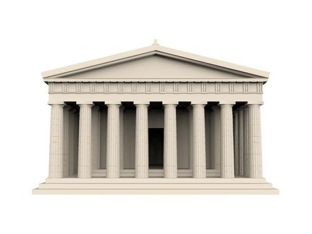 Griekse Tempel Geïsoleerd