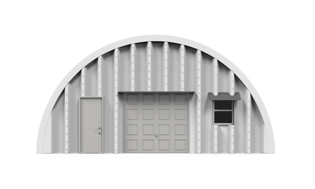 barrack: Hangar Building Isolated