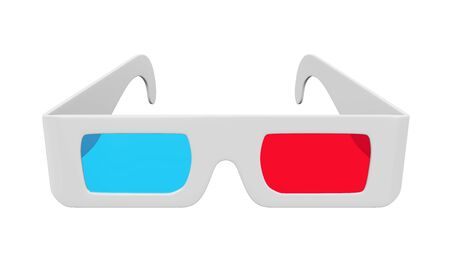 movie film: 3D Glasses Isolated