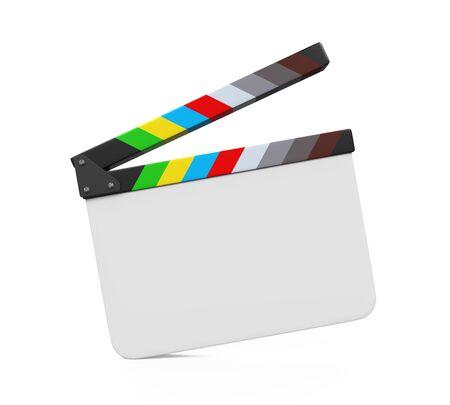 movie film: Empty Movie Clapper Board