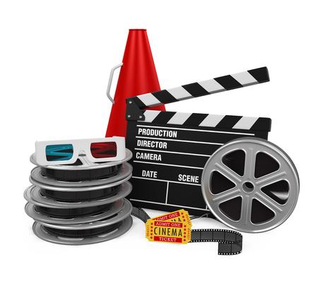 Movies Cinema Concept Stock Photo