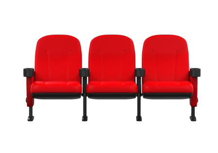 Red Theater Seats Stock Photo