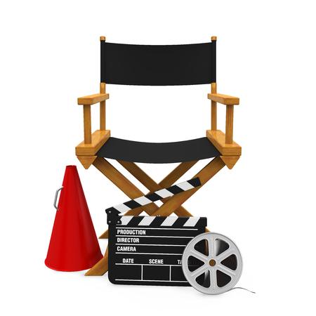 Direktor Lehrstuhl und Filmemacher Ausrüstung Standard-Bild - 78030457