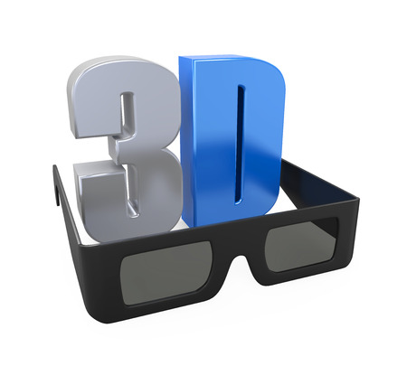 anaglyph: 3D Text and Glasses