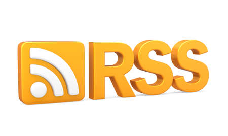xml: RSS Symbol with Text Isolated