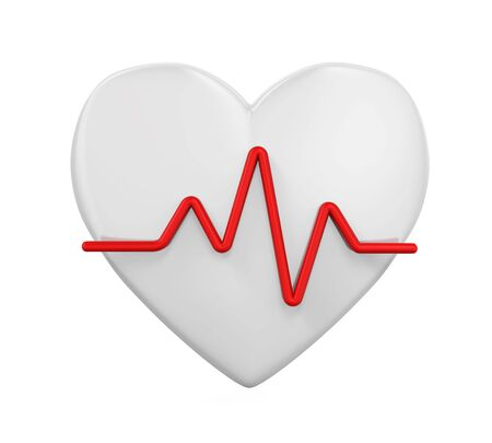 Heart Shaped with Pulse Isolated