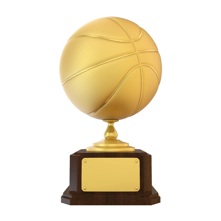 Basketball Golden Trophy Isolated