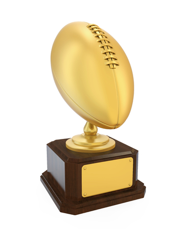 American Football Golden Trophy Isolated
