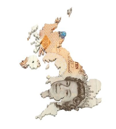 British Pound Map Isolated