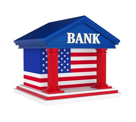 roman column: American Bank Building Isolated