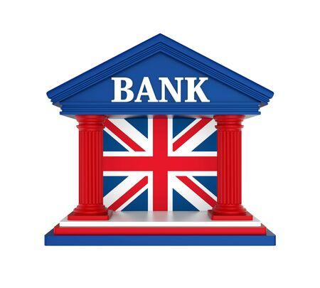 United Kingdom Bank Building Isolated