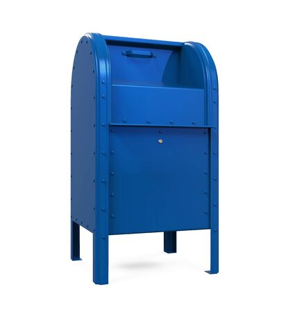 Blue Mail Box Isolated