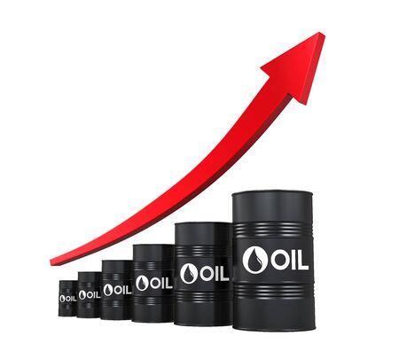 Olieprijs omhoog Illustratie