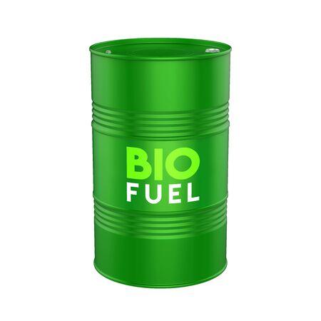 Barril de biocombustible aislado