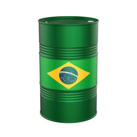 Barril de petróleo de la bandera brasileña Foto de archivo - 80183103