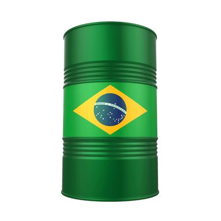 Barril de petróleo de la bandera brasileña