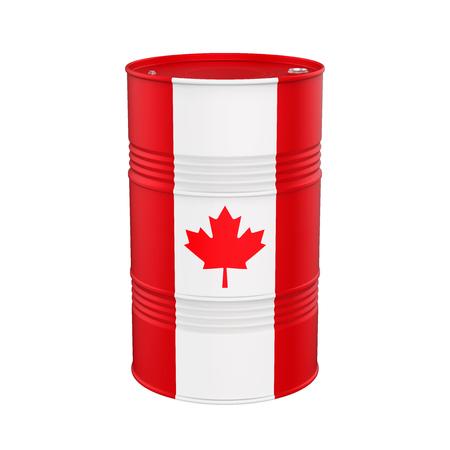 Aceite de la bandera de Canadá del barril