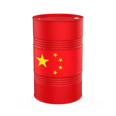 Bandera de China del barril de petróleo