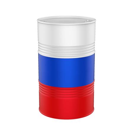 Aceite de bandera rusa barril