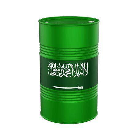 Arabia Saudita Bandera del barril de petróleo