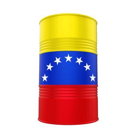 Barril de petróleo de la bandera de Venezuela