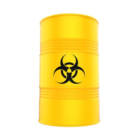 Biohazard Barrel Isolated