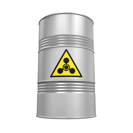 barrel bomb: Chemical Weapon Barrel Isolated Stock Photo