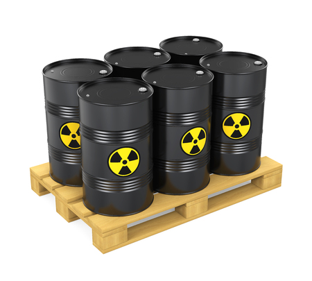Pallet of Radioactive Barrels Isolated