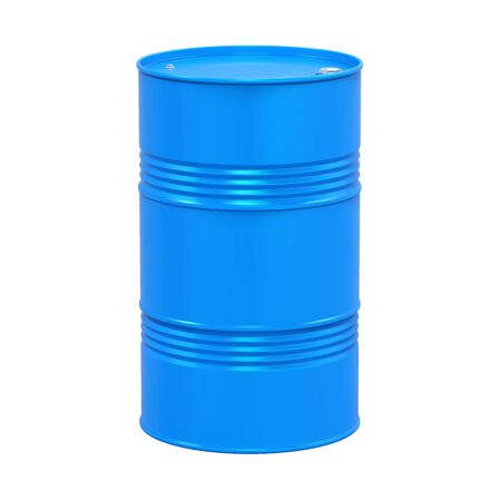 hazardous material: Blue Oil Drum Isolated
