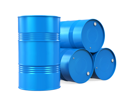 Blue Oil Drum Isolated