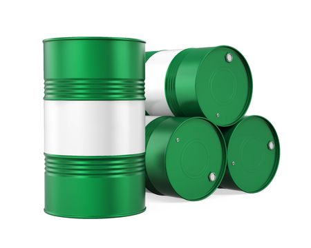 Green Oil Drum Isolated