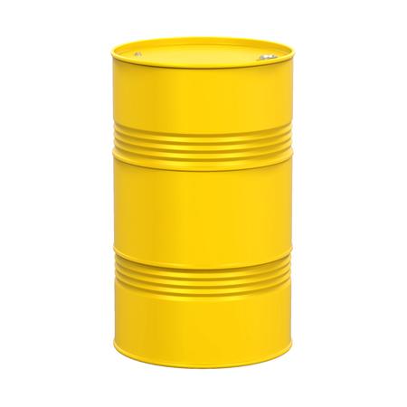 Gele olietrommel geïsoleerd