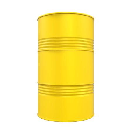 Gele olietrommel geïsoleerd Stockfoto - 80347297