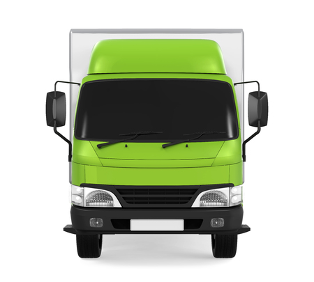 shipments: Delivery Van Isolated Stock Photo