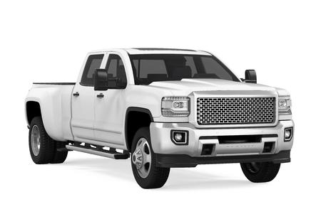 Witte pick-up geïsoleerd Stockfoto