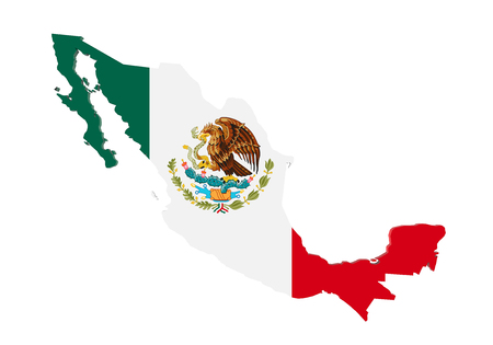 Map of Mexico Isolated