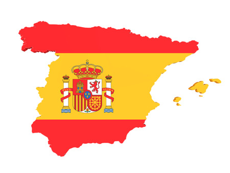 madrid: Map of Spain Isolated